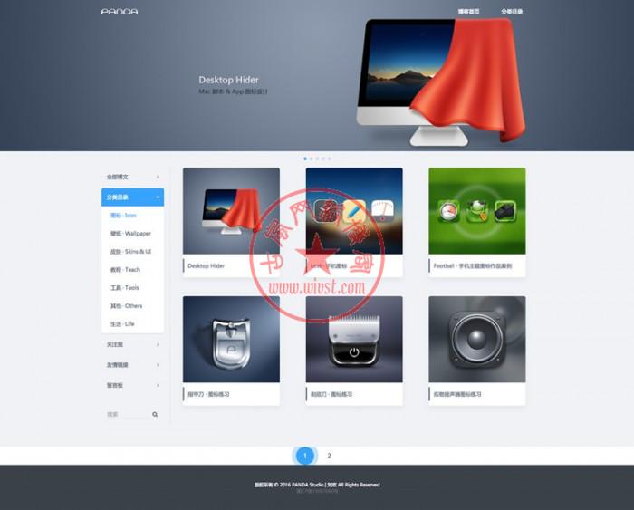 价值200元的WordPress企业主题图片素材类 Designer's Cardsv1.5主题